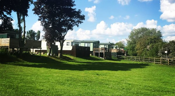 Hale Hill Park swing park Static caravans and a field